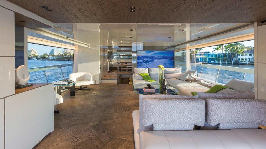 Parquet rovere naturale scuro Slide Daniele Lago Yacht