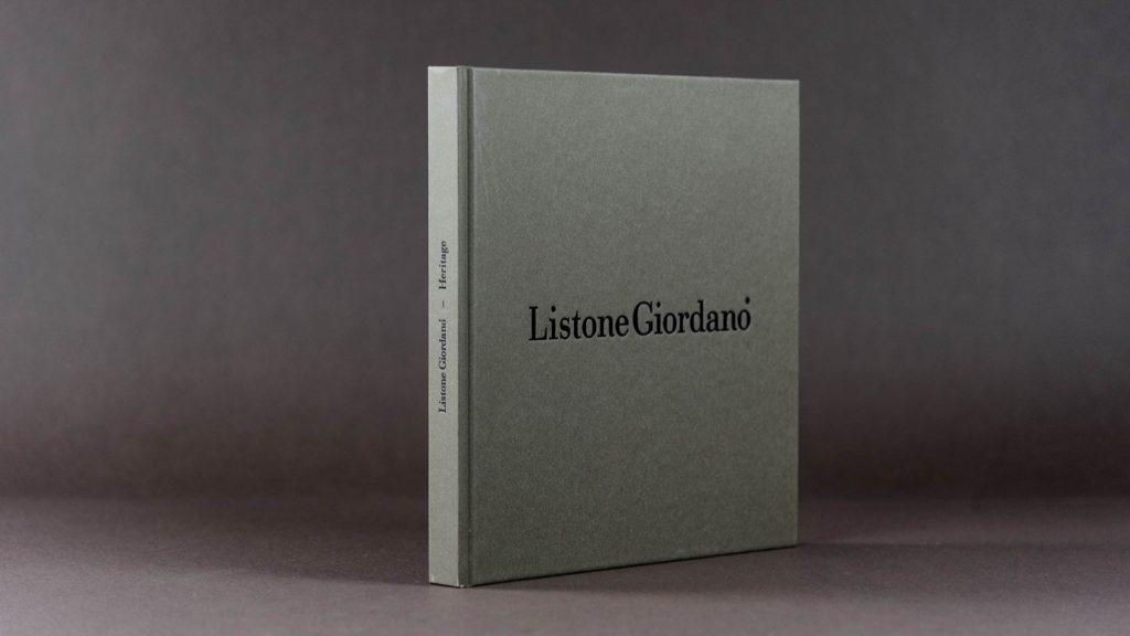 Listone Giordano heritage volume libro identità aziendale